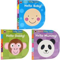 英文原版绘本Baby Touch 3册合售Hello Baby Mummy Daddy 你好爸爸妈妈Ladybird小