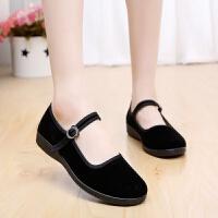 老北京布鞋女鞋经典黑一代 平跟工作鞋 广场舞鞋 休闲鞋