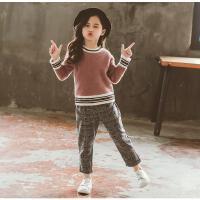童装女童秋装套装潮衣洋气两件套儿童时髦中大童衣服