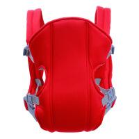小孩背带后背式传统宝宝背袋婴儿双肩多功能四季通用轻便简易 红色 四季透气款