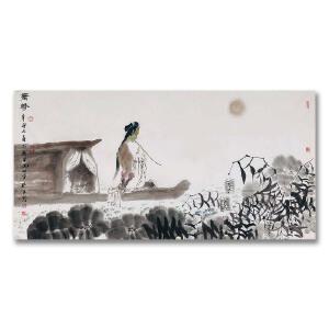 山东省美术家协会常务副主席兼秘书长、中国美术家协会会员 孔维克《萧声》DYP94