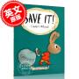 现货 怎么省钱 儿童绘本 树立正确的金钱观念 精装 Save It!! Moneybunny系列 第 3本 Cinders McLeod