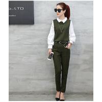 韩版女装小香风名媛气质时尚女套装修身显瘦两件套新款
