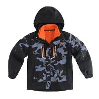 男童冲锋衣秋冬装儿童户外可拆卸两件套外套