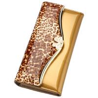 2018082426102882018新款欧美潮时尚漆皮皮钱包女士长款豹纹大钞夹牛皮钱夹手包