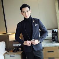 秋冬冬季修身格子韩版男士长袖常规小西装免烫处理外套西服