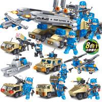 积木儿童益智拼装玩具坦克模型男孩子