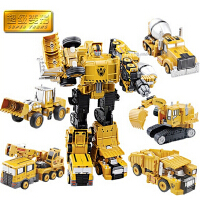 爱美达 得意小子玩具合金变形工程车大力神儿童男孩玩具