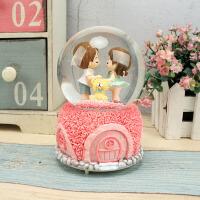 礼品音乐盒八音盒玫瑰水晶球雪花女生结婚新婚生日情人节礼物