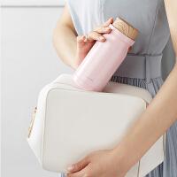 乐扣乐扣牛奶保温杯便携水杯许愿瓶可爱简约时尚情侣学生男士女士 420ml