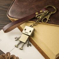 机器人钥匙链钥匙扣男士女士创意汽车钥匙圈环锁匙扣可爱包包挂件