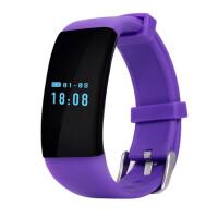 智能心率手环运动计步来电提醒手表睡眠监测防水安卓苹果IOS 紫