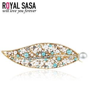 皇家莎莎RoyalSaSa头饰人造水晶一字夹发夹发卡韩国盘发顶夹横夹发饰马尾夹