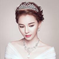 新娘头饰结婚皇冠套装项链天鹅三件套婚纱发饰配饰