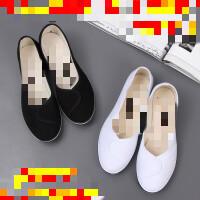 护士鞋白色坡跟2019新帆布鞋女单鞋美容鞋女鞋舞蹈鞋工作鞋