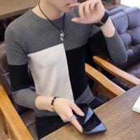 秋季修身薄款男士针织打底衫韩版秋衣上衣服小衫长袖T恤卫衣男装