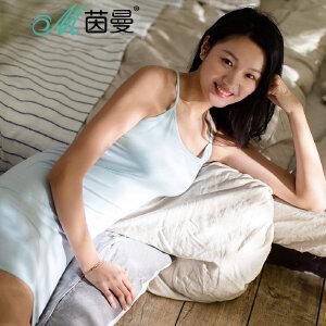 包邮 茵曼内衣 舒适优雅背心裙吊带打底衫女睡眠9871031169
