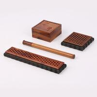 红木镂空香盒卧香炉熏香盒焚香炉套装酸枝木沉香线香香盒香炉