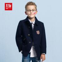 jjlkids季季乐男童毛呢外套2016新款呢子外套儿童大衣中长款冬季BDW61225