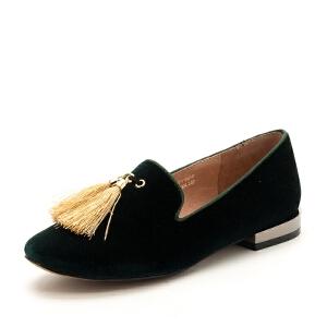 D:Fuse/迪芙斯浅口圆头低跟流苏低帮女单鞋DF73112058