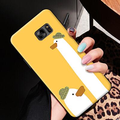 三星S6EDGEPLUS手机壳5.7寸情侣硅胶Samsung套sm-g925f全卡通软壳smg925