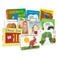 英语启蒙绘本10册 Dear Zoo亲爱动物园 My Dad My Mum Brown Bear 好饿的毛毛虫 袋鼠也有