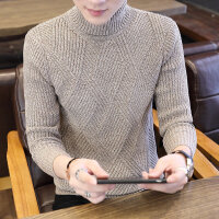 冬季加绒高领毛衣男青少年韩版帅气保暖打底衫学生长领针织衫潮流