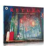 进口英文原版 Journey探索不可思议的旅程 三部曲之3回归之夜Return平装 儿童启蒙晚安无字书 艾伦贝克尔 正