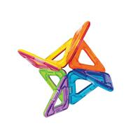 【2件5折】趣味儿童磁力片积木三角形正方形 宝宝益智玩具拼装磁铁早教磁力片积木拼插