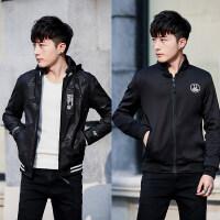 春秋季男士夹克棒球带帽青少年韩版潮学生开衫春装男装双面穿外套