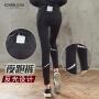 【女神特惠价】Kombucha瑜伽健身长裤女士吸汗速干透气个性口袋健身夜跑反光打底长裤JCCK828