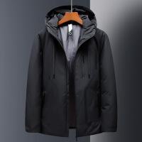 新款冬季韩版连帽男士羽绒服短款加厚大码时尚休闲鸭绒衣男装外套
