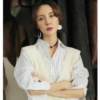 韩版时尚简约吊坠衣服配饰品装饰项链脖子饰品颈带锁骨链女毛衣链短款