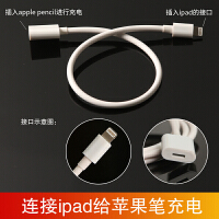适用苹果Apple Pencil充电线转接头ipad pro手写笔配件充电转换头充电底座苹果铅笔充