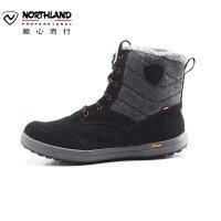 【顺心而行】诺诗兰户外女士徒步防滑耐磨保暖短筒雪地靴FB052503