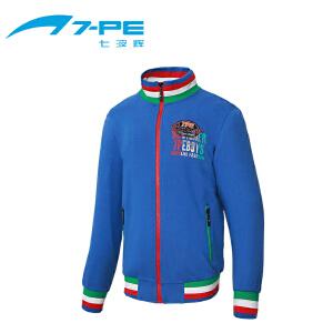 七波辉男童装 秋季儿童时尚运动针织拉链衫 男童卫衣外套