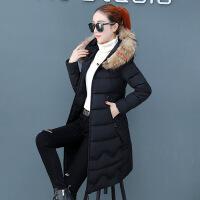 2018冬季新款棉衣女士中长款加厚韩版羽绒时尚冬天棉袄外套潮
