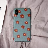苹果XS手机壳7plus全包防摔XR女款iPhone8硅胶xsmax软壳6网红同款 小红花--XS MAX