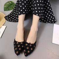 夏季新款拖鞋女尖头平底单鞋女低跟半拖鞋女学生瓢鞋防滑凉拖鞋潮