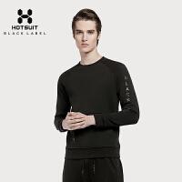 美国HOTSUIT男装卫衣圆领运动休闲套头衫秋季针织运动长袖上衣5648070