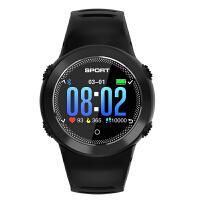 触摸圆屏智能手环男士黑科技充电手表心率血压血氧计步指南针手表