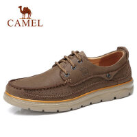 camel 骆驼男鞋春季新品户外休闲鞋牛皮舒适低帮男士休闲皮鞋