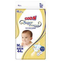 大王 GOO.N日本进口婴儿环贴式纸尿裤 光羽系列 M44片