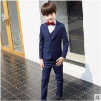 韩版花童婚礼服小孩主持演出服装男童西装礼服套装儿童西服
