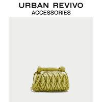 URBAN REVIVO2020冬季新品女士配件褶��r尚手提包AY44TB1N2001