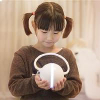 百变耳机台灯可充电池式USB迷你台灯 儿童小学生书桌宿舍读书可爱无线学习台灯