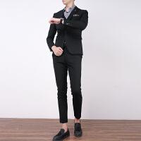 西�b男套�b修身�n版英���L男士���庑吕晌鞣�外套休�e��I商�照��b 黑色 三件套