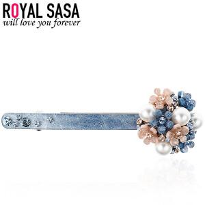 皇家莎莎发饰花朵发夹发卡韩国时尚弹簧夹横夹头饰品顶夹