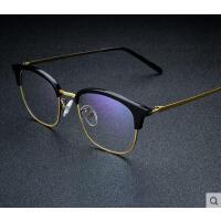 复古变色防蓝光眼镜男电脑护目镜 户外新款防辐射眼镜女 休闲百搭平光眼镜韩版
