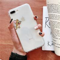 新款猫和老鼠超薄苹果xsmax手机壳气囊全包iphoneXR透明硅胶软壳汤姆杰瑞7/8plus防摔创